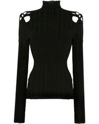 Dion Lee Long Sleeve Braided Detail Sweatshirt - Black