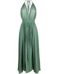 Caravana Long Halterneck Cotton-blend Dress - Green