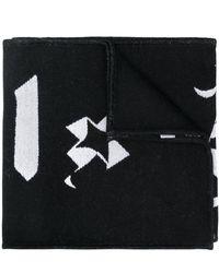 Palm Angels ロゴ スカーフ - ブラック