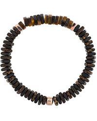 Tateossian Legno Silver Bracelet - Brown