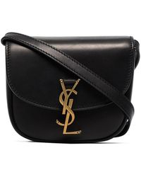 Saint Laurent Kaia Leather Satchel - Black