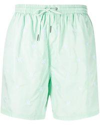 Daily Paper Logo Swim Shorts - Green