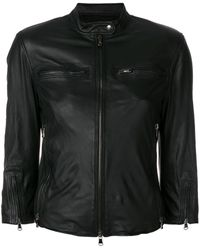 R13 Fitted Leather Jacket - Black