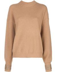 Alexander Wang - Embellished-cuff Oversized Sweater - Lyst
