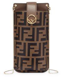 Fendi Чехол Для Телефона С Логотипом Ff - Коричневый