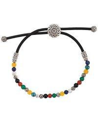 John Hardy - Silver Classic Chain Mixed Stone Bead Pull Through Bracelet - Lyst