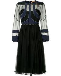 N°21 - Vestido midi con paneles transparentes - Lyst