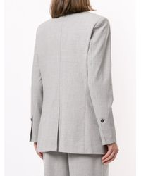 3.1 Phillip Lim シャンブレー シングルジャケット - グレー
