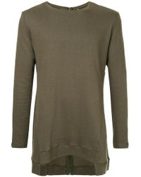 First Aid To The Injured | Back Zip Asymmetric Sweatshirt | Lyst