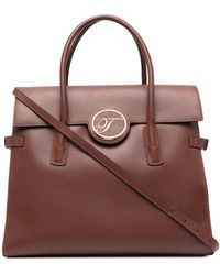 Temperley London Clementine Leather Tote Bag - Brown
