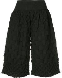Pleats Please Issey Miyake - Pierrot Knit Shorts - Lyst