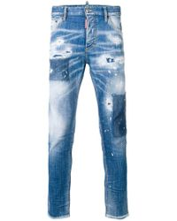 DSquared² - Distressed Skinny Dan Jeans - Lyst