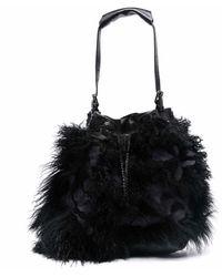 Numero 10 Shearling-trim Tote Bag - Black