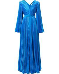 SemSem Robe plissée à dos-nu - Bleu