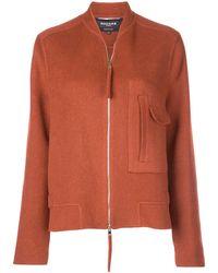Rochas Oversized Zip-up Jacket - Orange