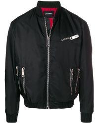 Les Hommes Zip Detail Bomber Jacket - Черный