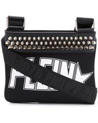 Philipp Plein Studded Logo Shoulder Bag - Black