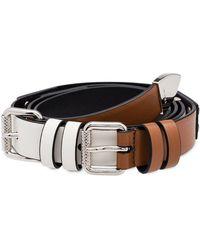 Prada - Double Buckle Belt - Lyst