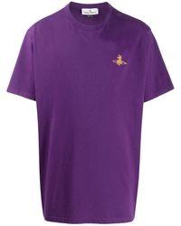 Vivienne Westwood オーバーサイズ Tシャツ - パープル