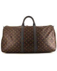 Louis Vuitton Сумка Keepall 55 Pre-owned Из Коллаборации С Kim Jones - Коричневый