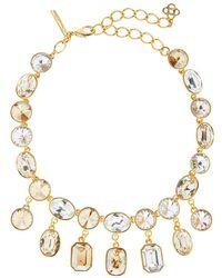 Oscar de la Renta Gem-embellished Drop Necklace - Multicolour