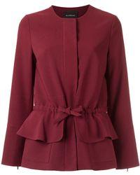 Olympiah Tie Waist Jacket - Red