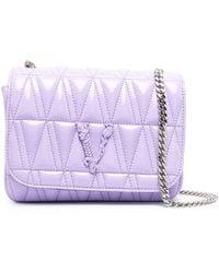 Versace Стеганая Сумка Через Плечо - Пурпурный