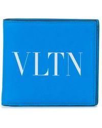 Valentino Garavani VLTN Portemonnaie - Blau