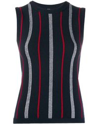 Thom Browne Striped Sleeveless Sweater - Blue