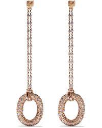 Carolina Bucci 18kt 'Pave Links' Rotgoldohrringe mit Diamanten - Pink