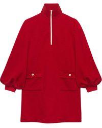 Gucci Robe à motif GG en jacquard - Rouge