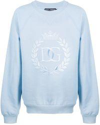 Dolce & Gabbana - Толстовка С Вышитым Логотипом - Lyst