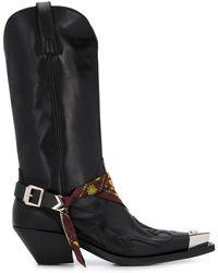Versace メデューサ ウエスタンブーツ - ブラック