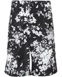 Givenchy - Floral Fitted Shorts - Lyst