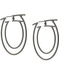 Ferragamo - Double Gancio Hoop Earrings - Lyst