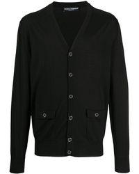 Dolce & Gabbana Трикотажный Кардиган На Пуговицах - Черный