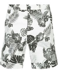 Loveless - Leaf Print Shorts - Lyst