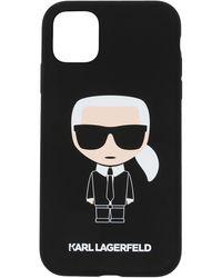Karl Lagerfeld Cover per iPhone 11 Ikonik - Nero