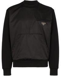 Prada - Sweater Met Logo Plakkaat - Lyst