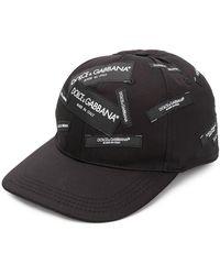 Dolce & Gabbana Logo Patch Cap - Black