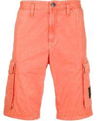 Stone Island Cargo Shorts - Oranje