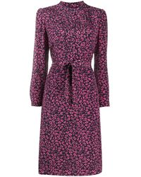 A.P.C. Floral-print A-line Dress - Purple