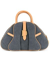 Dior Bolso de mano estilo saddle - Azul