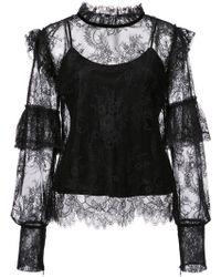 Josie Natori - Camisole Lace Blouse - Lyst