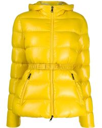 Moncler - Belted Puffer Jacket - Lyst
