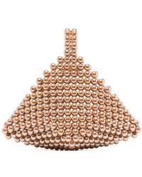 Vanina Le Bourgeon Pearl Clutch Bag - Pink