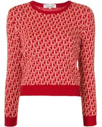 Dior Джемпер Pre-owned С Узором Trotter С Круглым Вырезом - Красный
