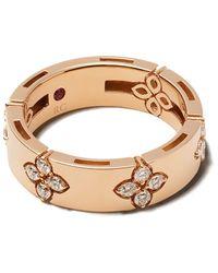 Roberto Coin 18kt Rotgoldring mit Diamanten - Mehrfarbig