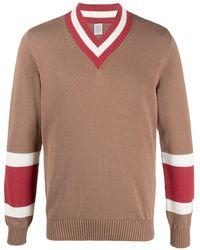 Eleventy ストライプ セーター - ブラウン