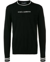Dolce & Gabbana Trui Met Contrasterend Logo - Zwart